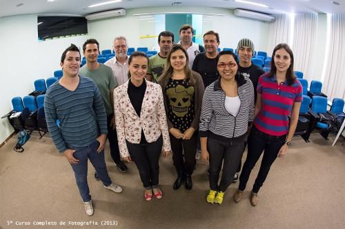 Participantes do 5ª turma do Curso Completo de Fotografia