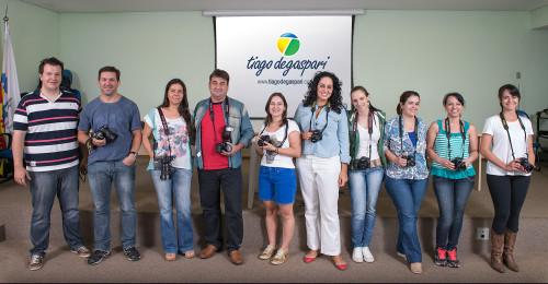 Participantes da 7ª edição do Curso Completo de Fotografia.