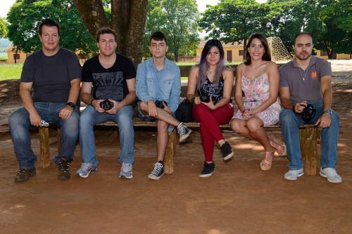 Rafael, Kelvn, Anne, Bruna e Henrique. O João e Flávia, chegaram um pouquinho depois da foto!