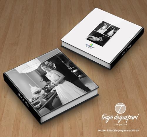 Álbum Panorâmico 30x30cm impresso em minilab.