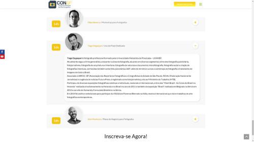 TIAGO DEGASPARI - palestrante do CONAF sobre o uso do flash dedicado.